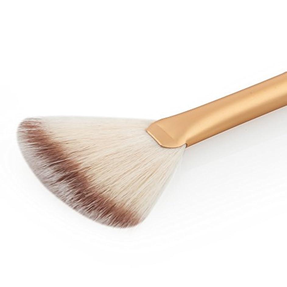 バドミントン大きい着るSONONIA 2本 お買い得 扇形 ブレンド フェイス パウダー ハイライト 輪郭 メイクアップブラシ 化粧ブラシ ツール