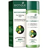 Biotique Bio Cucumber Pore Tightening Toner, 120ml Helps reduce skin Ageing トナーをきつく締めるBiotiqueのバイオキュウリの気孔は皮の老化...