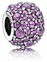 PANDORA Charms Shimmering Purple Flashing Droplets Bead Charm