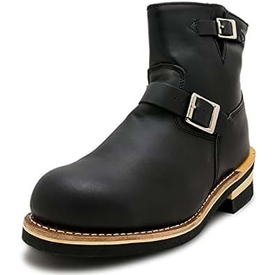 God&Bless(ゴッドブレス) エンジニア ブーツ ショートブーツ メンズ レディース 23.0cm ブラック GB-9809-BLACK-230