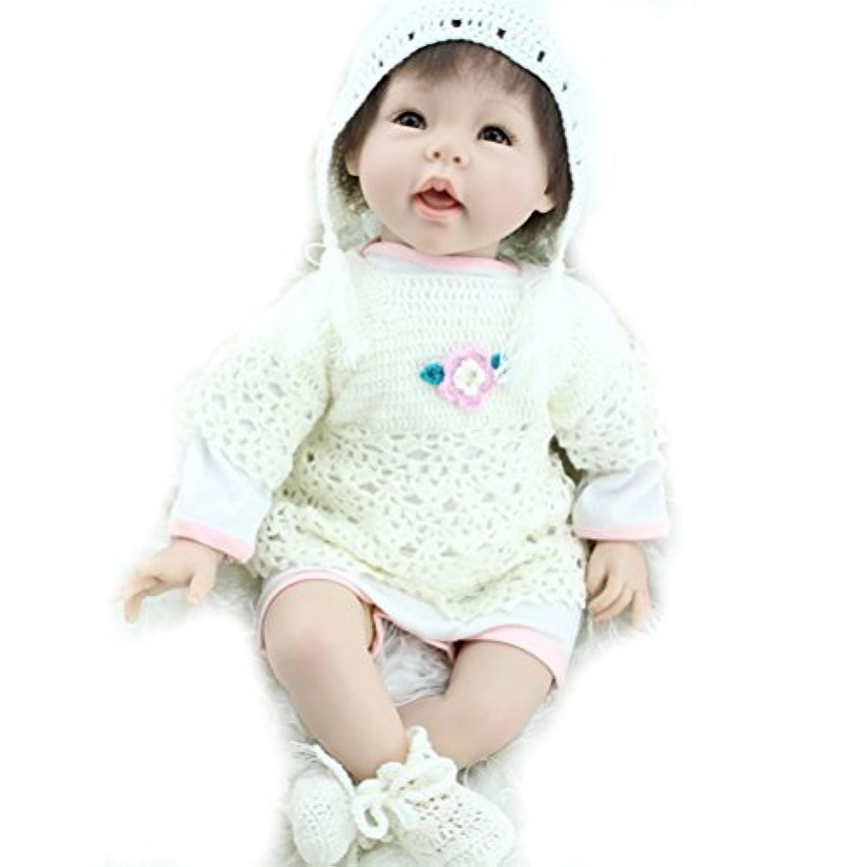 ベビー人形22インチハンドメイドBaby Dolls Girl Siliconeビニール人形