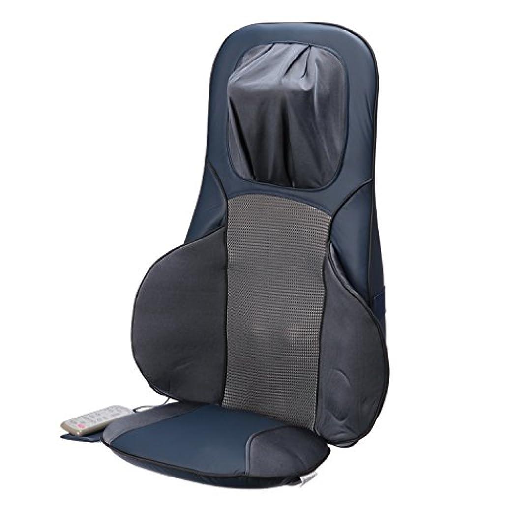 悪い確かめる肘掛け椅子富士メディック ライフフィット 家庭用本格派 シートマッサージ FM002 ネイビーブルー