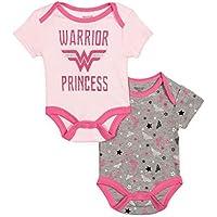 DC Comics Wonder Woman Infant Baby Girls 2 Pack Bodysuit