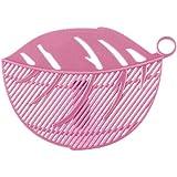 ZHUOTOP Plastic Leaf Shape Fruit Rice Wash Colander Sieve Cleaning Gadget Kitchen Tool 1PC Pink