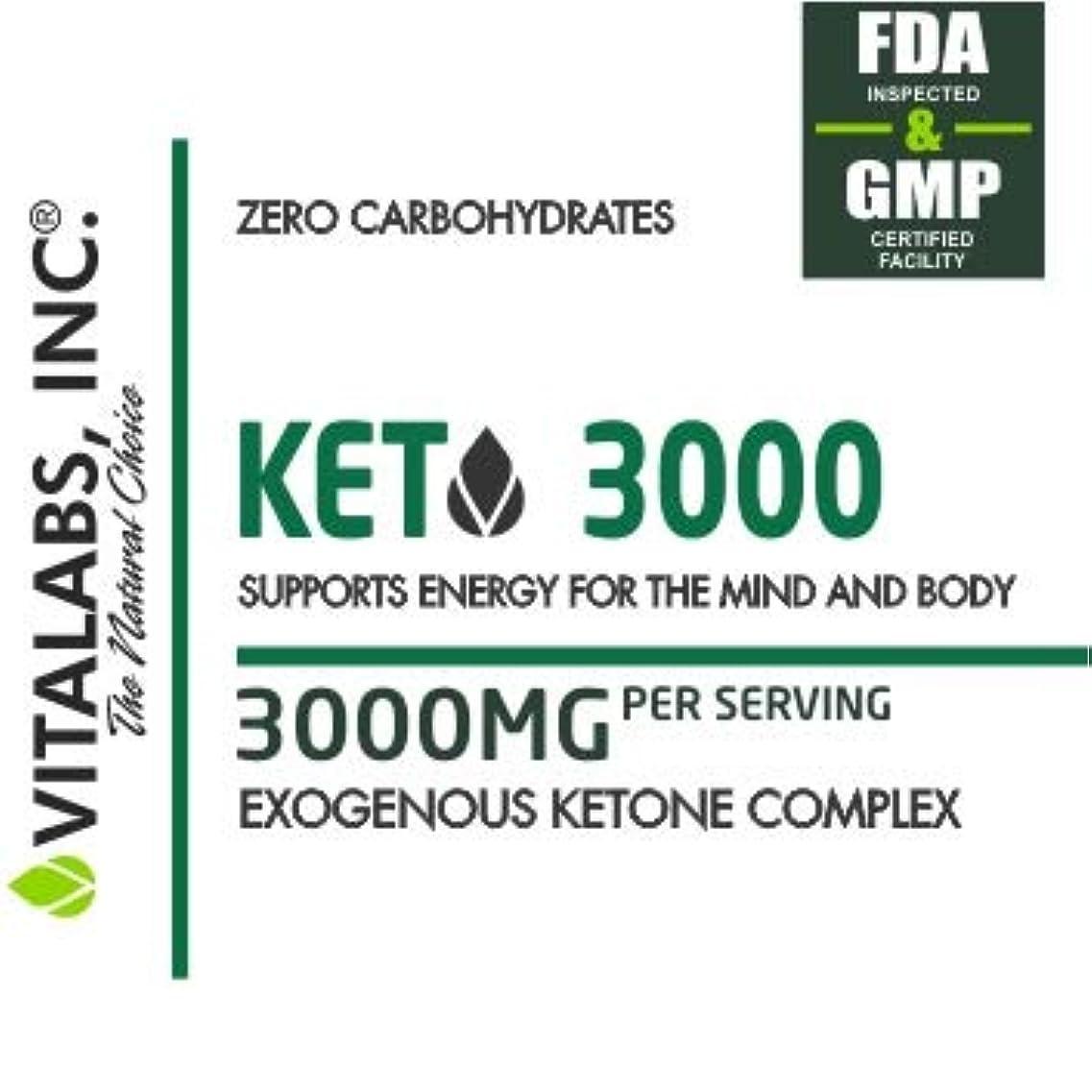 一杯ゴム知っているに立ち寄る低炭水化物状態を作る/ケトジェニックダイエットサポートサプリメント KETO 3000/ Vitalabs 【アメリカより直送】 (120カプセル(30回分))