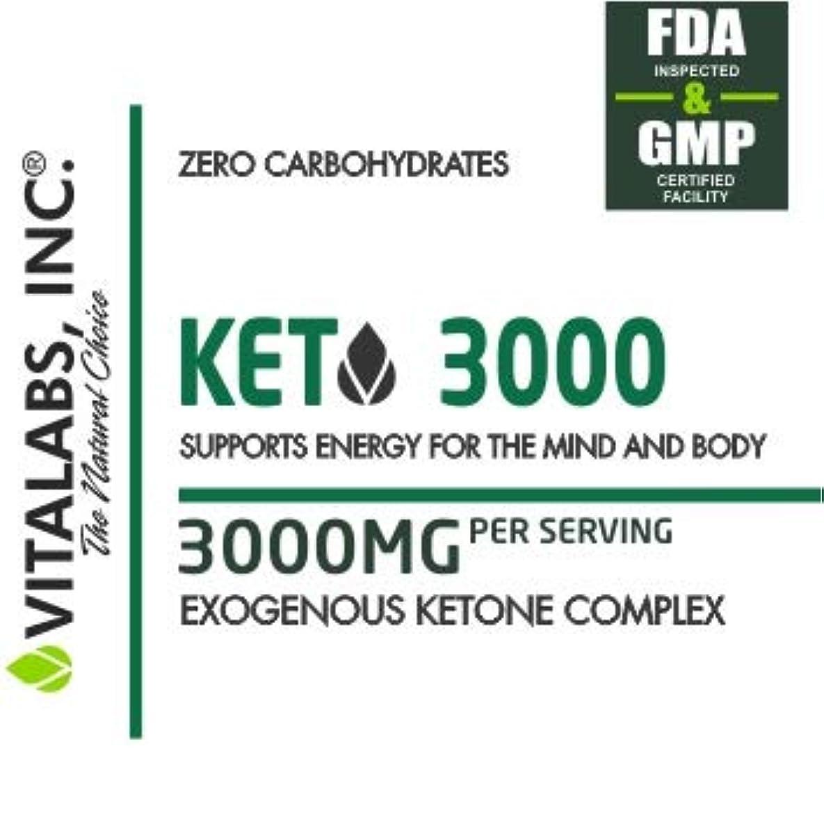 減らす添加幽霊低炭水化物状態を作る/ケトジェニックダイエットサポートサプリメント KETO 3000/ Vitalabs 【アメリカより直送】】 (240カプセル(60回分))