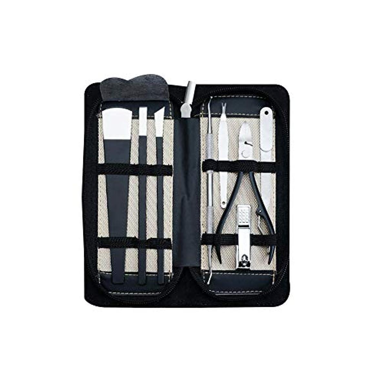 舗装誓約集中ステンレス鋼ペディキュアキットマニキュアセットペディキュアナイフ専門のネイルケアツールキットツール8