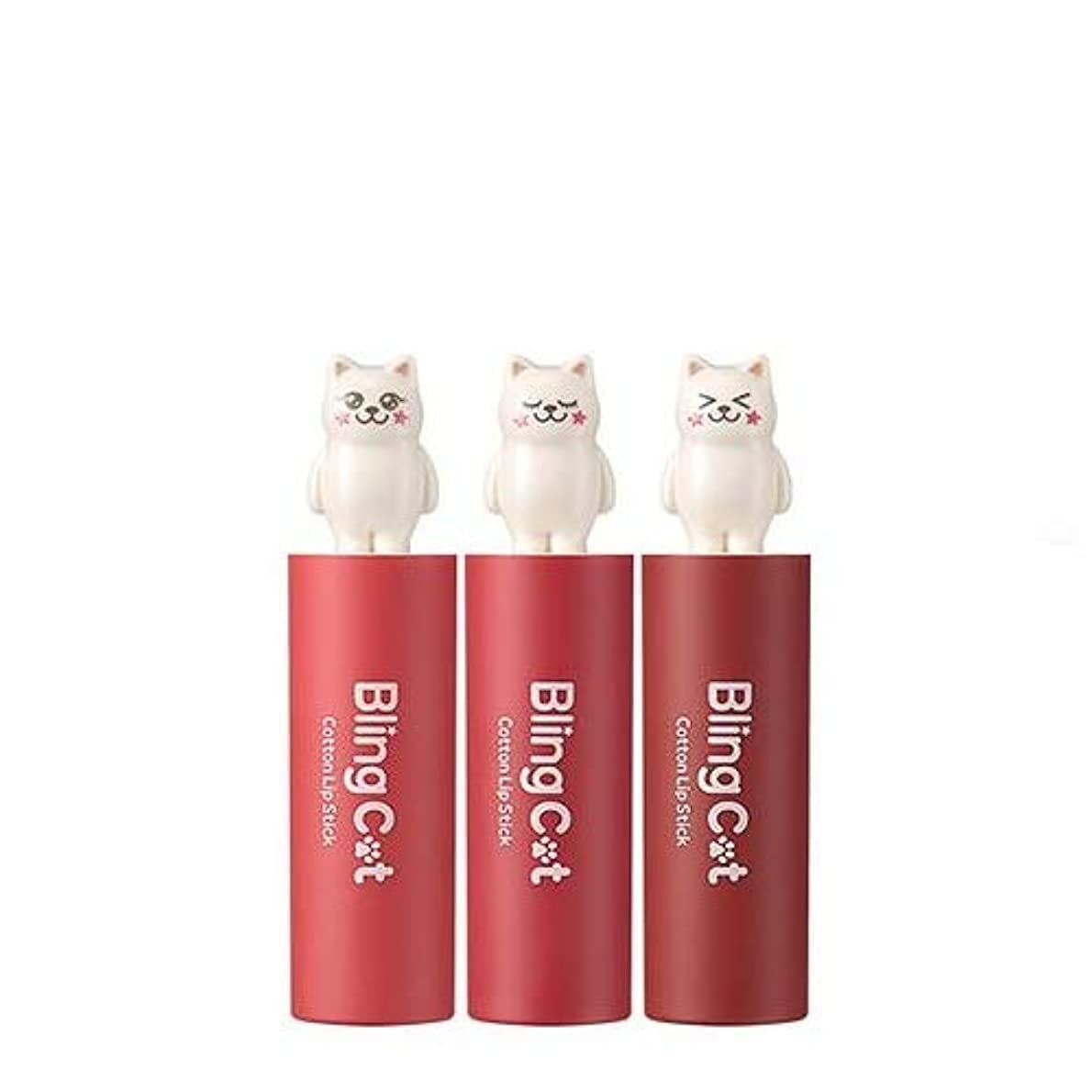 災害ダイアクリティカル投資するトニーモリー ブリングキャット コットン リップスティック 3.4g / TONYMOLY Bling Cat Cotton Lipstick # 04. Little Coral [並行輸入品]