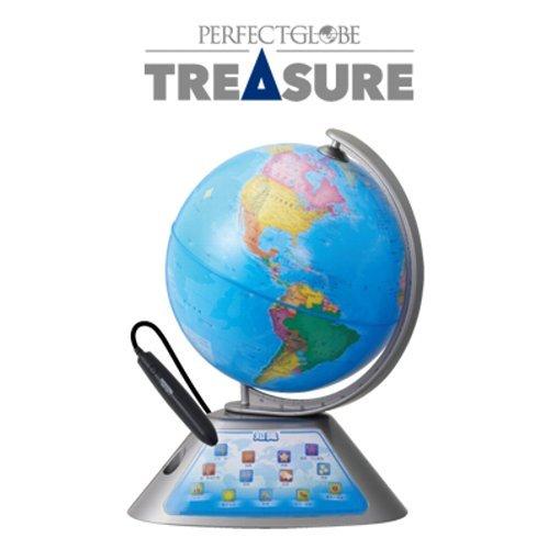 ドウシシャ しゃべる地球儀 パーフェクトグローブ TREASURE トレジャー PG-TR15 使用電池1年分サービス