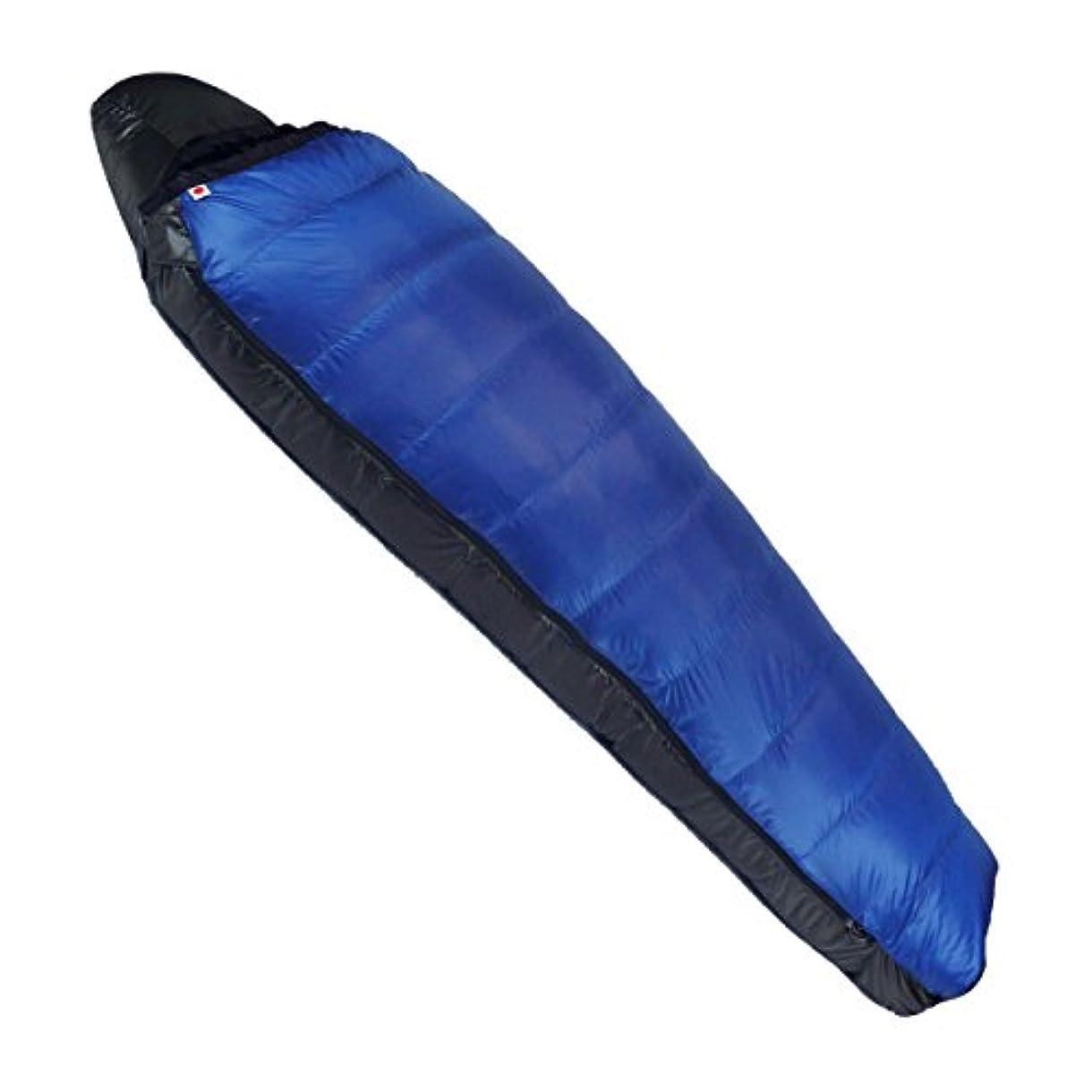 コンピューターゲームをプレイする行方不明冷えるNANGA(ナンガ) 寝袋 アウトレット訳ありダウンシュラフ450STD 最低使用温度-8度 ブルー 右ジッパー
