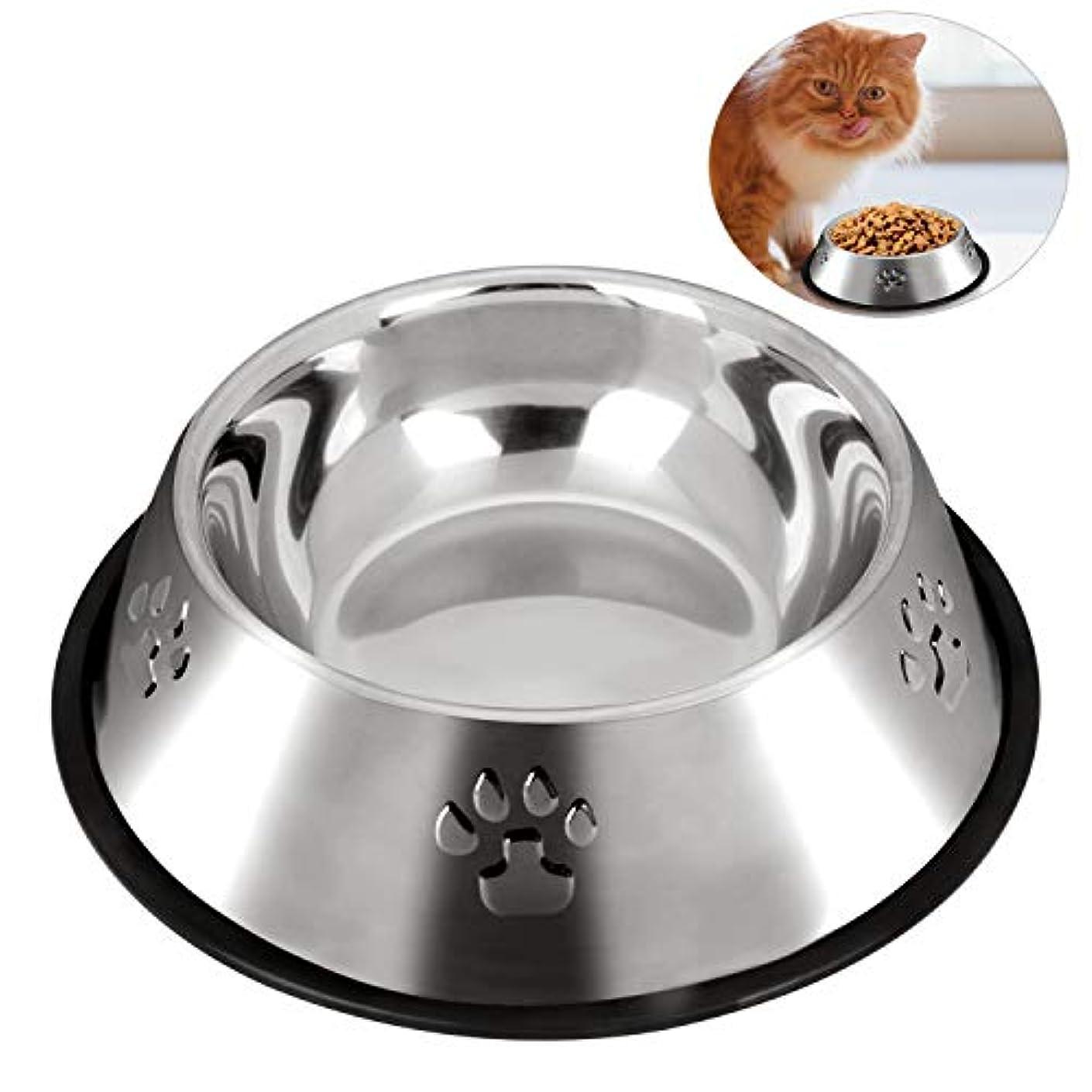 Legendog ペットボウル ペット用皿 餌入れ 犬 猫食器 転倒防止 ステンレス ペット食器 フィーダーボウル ペット用品 清潔便利