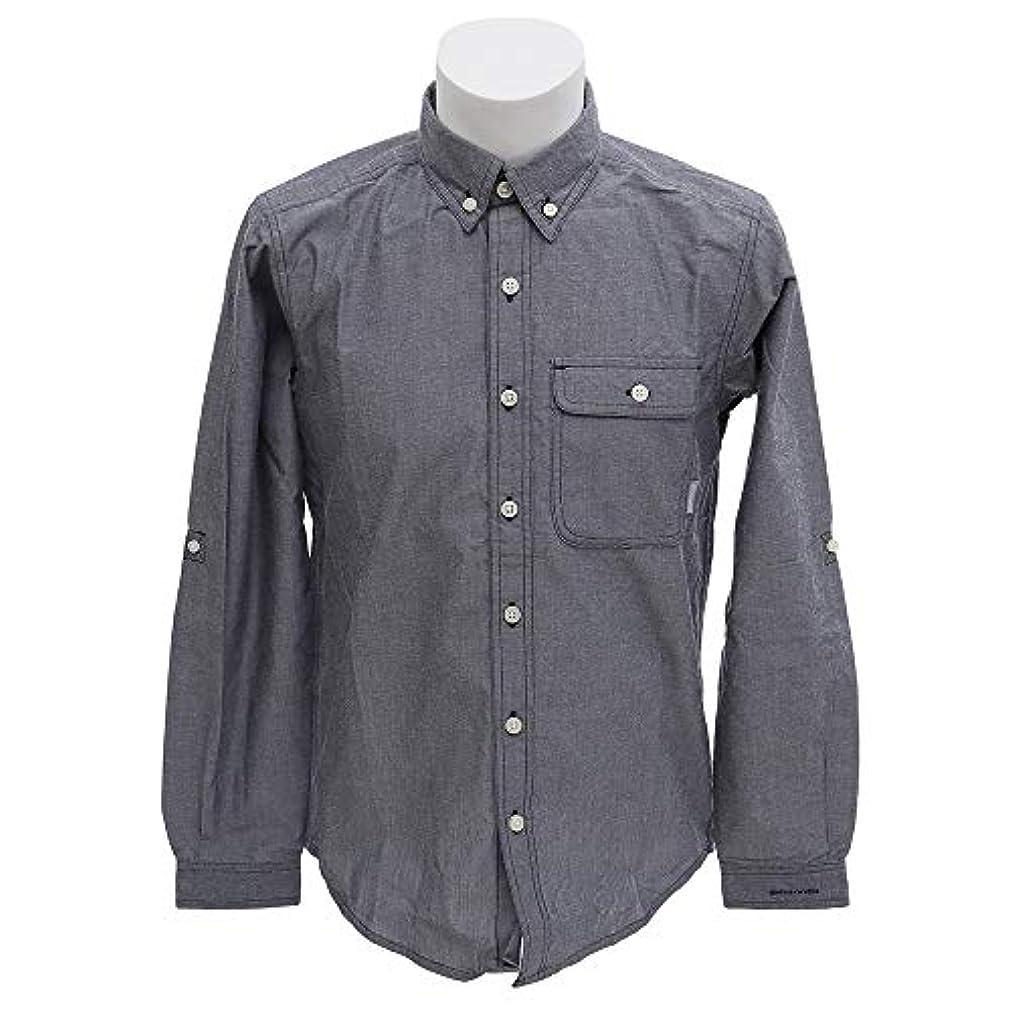 悩む出くわす黒くする[コロンビア] シティパークロングスリーブシャツ 464/CollegiateNavy PM6861 L
