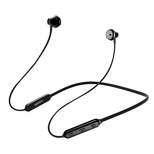 SZHTFX Bluetooth イヤホン IPX5完全防水 マグネット搭載 ネックバンド型イヤホン [メーカー1年保証]人間工学設計 10時間連続再生 マイク内蔵 高音質 低音重視 超軽量 スポーツ仕様 ブルートゥースイヤホン 各種デバイスに対応