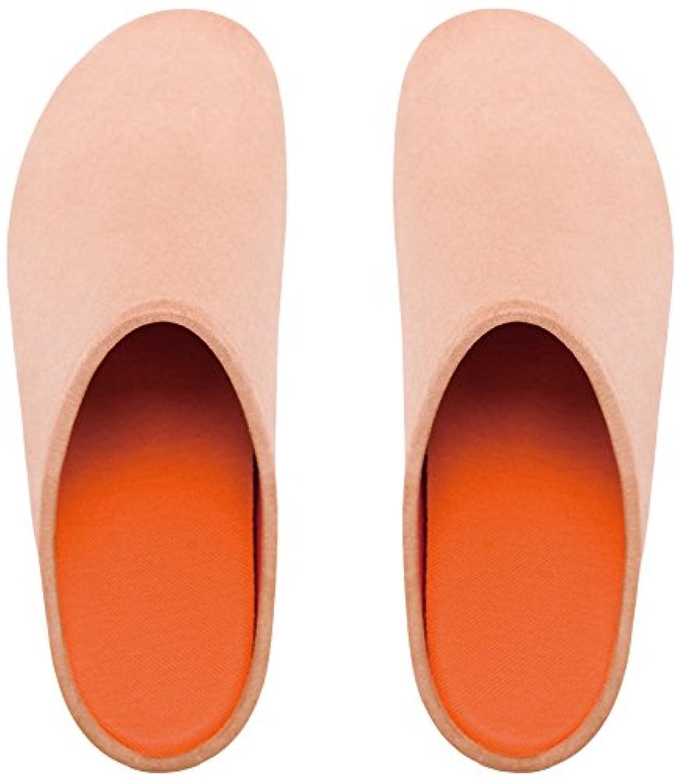 限定持続的米ドルプレミアムルームシューズ「フットローブ ピエモンテ / footrobe Piemonte」プレーン(ベージュ)+フェルトインソール(オレンジ)セット女性用 24.5cm
