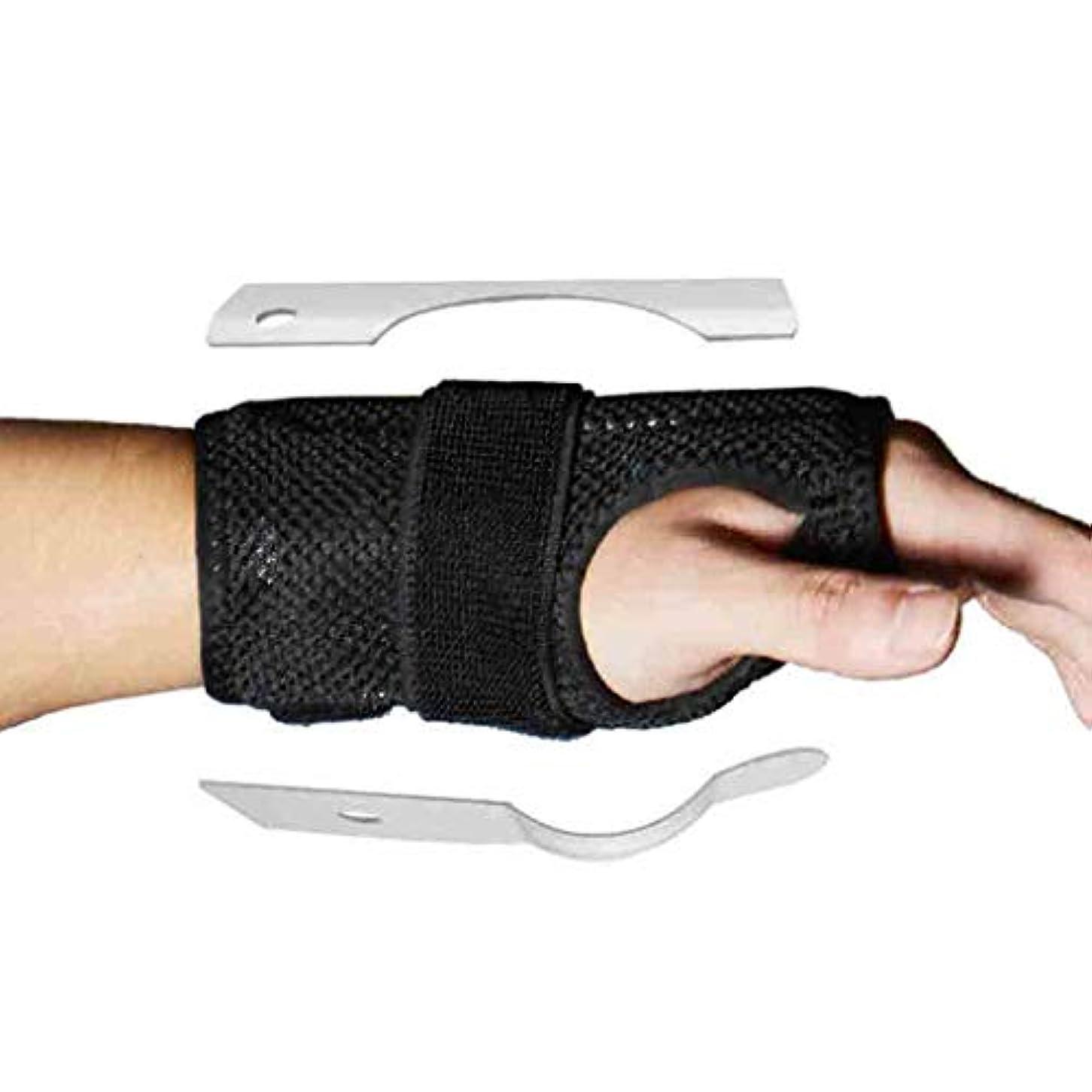 トリガーのための親指のスプリント親指の通気性のファブリック手首の親指腱鞘炎脳手根管症候群のためのリストバンドスプリントママの親指ブレース関節炎 Roscloud@