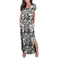 Smallshow Women's Maternity Nursing Dresses Split Long Dress for Breastfeeding
