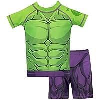 Marvel Boys The Incredible Hulk Swim Set Green