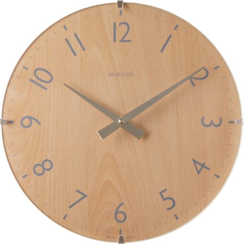 壁掛け時計 IN HOUSE ドームクロックW31CA ビーチ 44130053