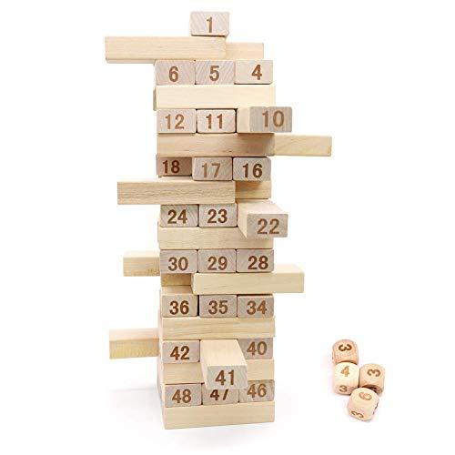 バランスゲーム 木製 積み木 ドミノ ブロック 立体パズル...
