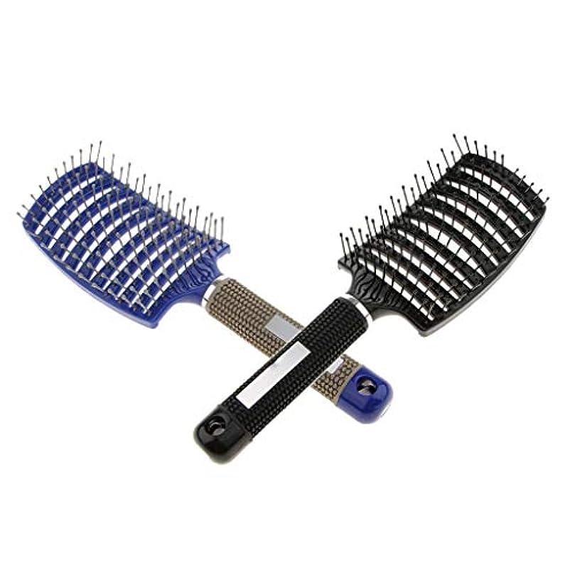 ラショナルゲージシーボードKESOTO 2??本 ヘアブラシ 乾燥 濡れた髪 頭皮マッサージ 曲がりベント