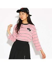 ピンク ラテ(PINK latte) Tシャツ(ドロップショルダーボーダー ロンT)