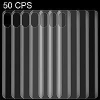 スクリーンプロテクター iPhone XSマックスためQUELLIA 0.1ミリメートル3D曲線エッジHD PET戻るフルスクリーンプロテクター (Color : Color2)