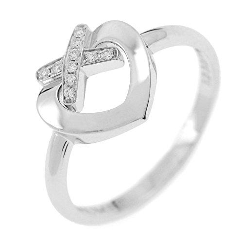 [ショーメ] CHAUMET ダイアモンド付き ホワイトゴールド ハートモチーフリング
