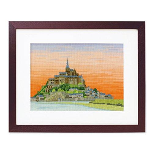 オリムパス製絲 クロスステッチ 刺しゅうキット 世界遺産と世界の風景から モン・サン・ミシェル オフホワイト 7211