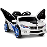 RIGO Kids BMW I8 Inspired Ride On Toy Car-Blue and White