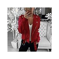 フェイクファーのコートの女性とフードコート特大ハイウエストスリムフィットオーバーコートは暖かいぬいぐるみジャケット生き抜く、赤2、XXXLトップス