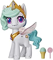 My Little Pony Magical Kiss Unicorn Princess Celestia, Interactive Unicorn Figure with 3 Surprises -- Musical