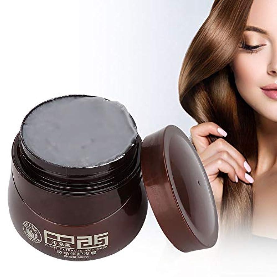 浸す対人バーガーヘアマスク、染毛剤ダメージヘアナリッシングリペアマスクトリートメントコンディショナープロのヘアサロンや家庭での使用に最適500ml