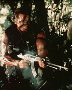 ブロマイド写真★『プレデター』アーノルド・シュワルツェネッガー/ジャングルで銃を構える