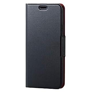 70f8efca4e エレコム iPhone Xs ケース 手帳型 レザー ウルトラスリム ICカード収納 サイドマグネットフラップ スタンド機能付き iPhone X対応  PM-A18BPLFUBK