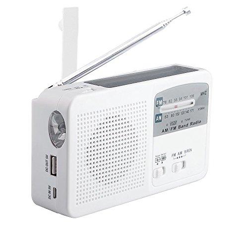 災害に備える ポータブルラジオ FM/AM/対応 500MaH大容量バッテリ...