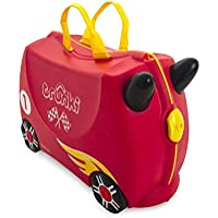 Trunki Children's Ride-On Suitcase & Hand Luggage: Rocco Race Car (Red)