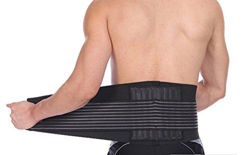 ガッチリ 腰痛コルセット World Bridge 腰サポーター 8本の特殊ボーン 腰痛ベルト 説明書付き(L)
