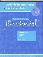 En Espanol 1: Actividades Para Todas