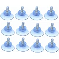 tsingfish 12個ゴム強力吸盤の部品交換ガラステーブルトップスとスクリューm4
