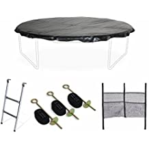 ALICE'S GARDEN KIT Trampoline 10 Foot - Ladder, Protective Cover and Anchor kit