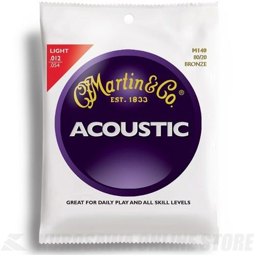 Martin アコースティックギター弦 ACOUSTIC?(80/20 Bronze) M-140 Light .012-.054