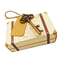 F Fityle ギフトボックス 小さな贈り物 クッキー お菓子 包装 綺麗 栓抜き&コパス付き 全2タイプ選択  - タイプ2