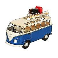 ティッシュケース・ホルダー ティッシュボックスレトロ工業風ティッシュボックスバス車のナプキンボックスホームリビングルームの装飾タオルボックス子供部屋寝室ティッシュボックスパーフェクトギフト (Color : Blue, Size : 26.5*17*12.5cm)