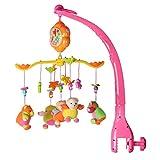 モビール ミュージックボックス ベッドメリー オルゴール 知育玩具 赤ちゃん 音楽回転 簡単に取付け 睡眠サポート ぬいぐるみ 4モード