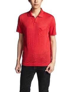 Linen Skipper Polo Shirt 1117-699-1692: Red