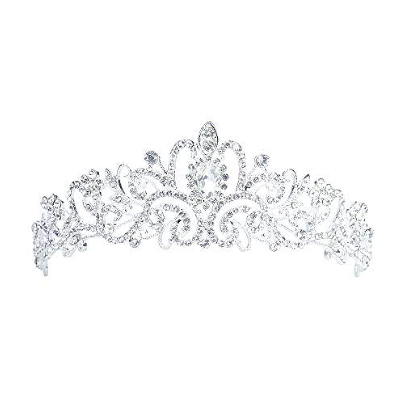 汚染空いている検査官Lermity Hair Comb Crown Rhinestone Hairpins Bridal Wedding Hair Accessories Jewelry Austrian Crystals Hair Clips...