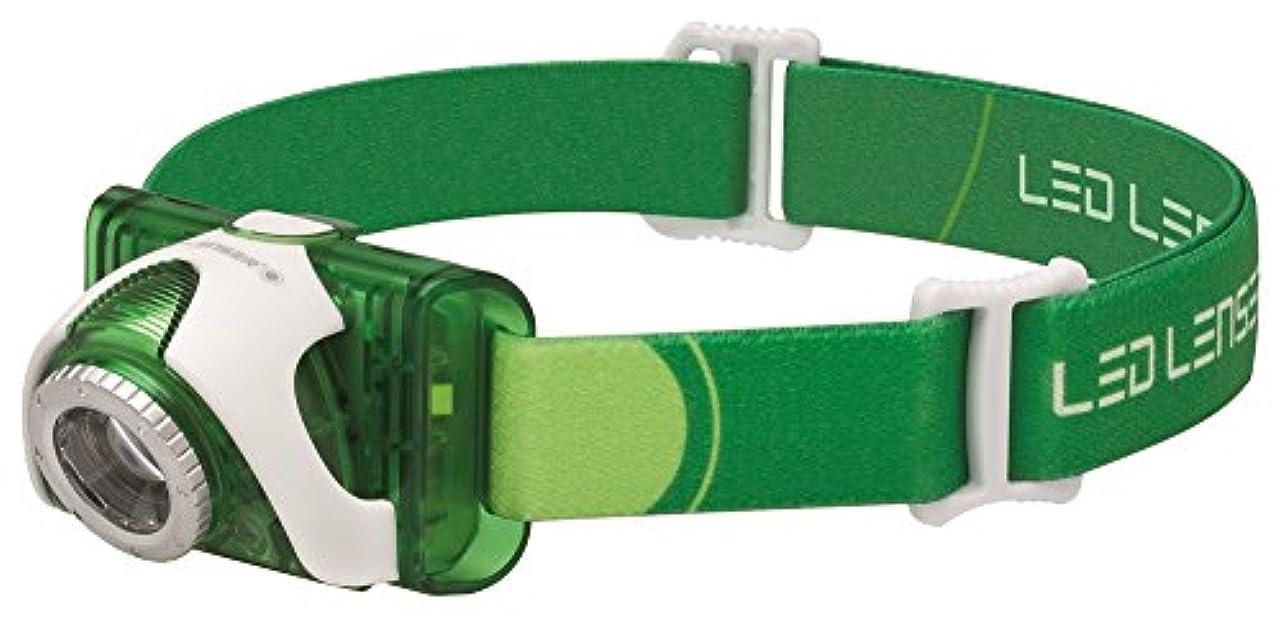 ビデオ大統領信頼性LEDLENSER(レッドレンザー) LEDヘッドライト SEO3グリーン 釣り/登山/トレラン用 【明るさ約100ルーメン】 【最長7年保証】 単4乾電池(AAA)x3本/防水等級:IPX6 [日本正規品] 6103