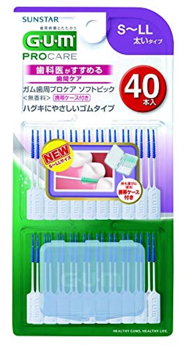 印刷する致死びんガム歯周プロケアソフトピック40P サイズS~LL