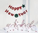 新年 お正月 Happy New Year  ガーランド 飾り付け オーナメント バナー パーティー デコレーション 装飾 フラッグ 壁飾り DIY