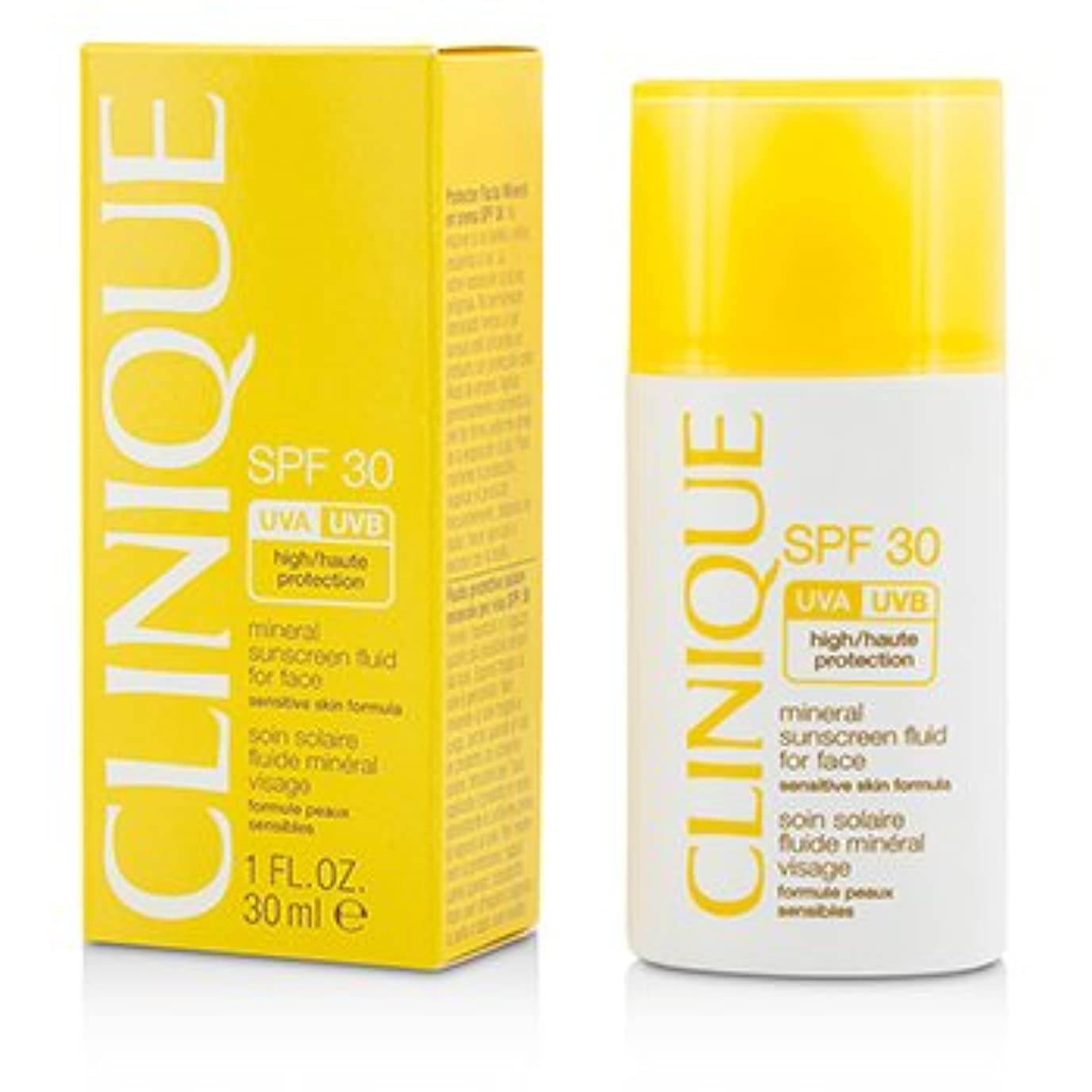 リーフレット崇拝しますインチ[Clinique] Mineral Sunscreen Fluid For Face SPF 30 - Sensitive Skin Formula 30ml/1oz